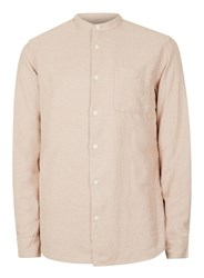 Selected Homme Pink Woven Stand Collar Shirt