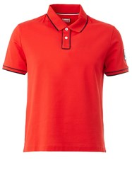 Moncler Gamme Bleu Stripes Detailing Polo Shirt Red