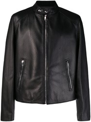 Bally Micro Perforated Jacket Black