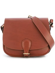 Alexandre Mareuil Hobo Crossbody Bag Brown