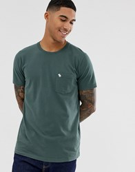 Abercrombie And Fitch Icon Logo Pocket T Shirt In Green