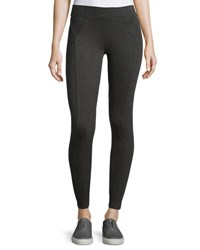Three Dots Riley Stretch Knit Leggings Charcoal