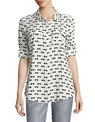 Karl Lagerfeld Shades Printed Blouse White