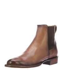 Lucchese Grayson Burnished Leather Chelsea Boots Dark Brown