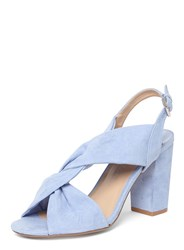 Dorothy Perkins Wide Fit Blue 'Simba' Knot Heel Sandals