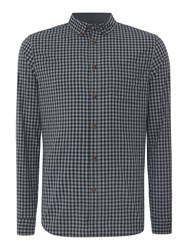 Linea Pearce Long Sleeve Gingham Shirt Navy