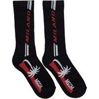 Msgm Black 'Milano' Palm Socks