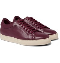 Paul Smith Basso Perforated Leather Sneakers Burgundy