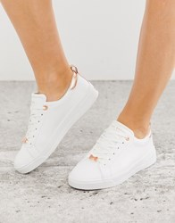 Ted Baker Gielli White Leather Trainers