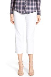 Jag Jeans 'Echo' Pull On 5 Pocket Crop Pants White