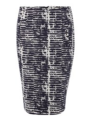 Linea Abstract Print Pencil Skirt Multi Coloured