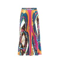 Versace Pleated Maxi Skirt Multicoloured