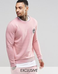 Hype Sweatshirt With Crest Logo Pink