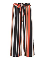 Therapy Stripe Culotte Trousers Multi Coloured