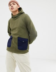 Native Youth Pocket Hoodie Green
