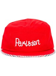 Maison Kitsune 'Parisien' Embroidered Cap