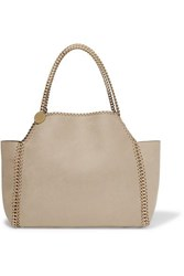 Stella Mccartney The Falabella Medium Reversible Faux Brushed Leather Tote Off White