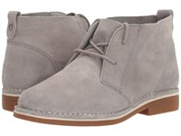 Hush Puppies Cyra Catelyn Frost Grey Suede Women's Lace Up Boots Gray