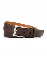 W. Kleinberg Basic Leather Belt With Interchangeable Buckles Brown