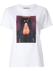 Fiorucci Photo Print T Shirt Cotton White