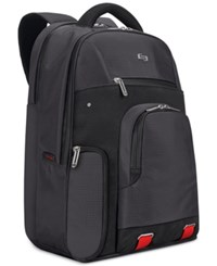 Solo Pro Aegis 15.6 Backpack Black With Orange Accents