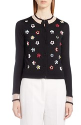 Fendi Women's Studded Floral Cashmere And Silk Cardigan