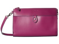 Lodis Audrey Vicky Convertible Crossbody Clutch Plum Indigo Clutch Handbags Pink