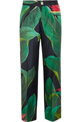 F.R.S For Restless Sleepers Crono Printed Silk Twill Pants Green