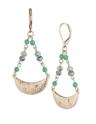Lonna And Lilly Dyed Quartz Drop Earrings Gold