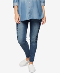 A Pea In The Pod Maternity Medium Wash Skinny Jeans
