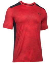 Under Armour Men's Printed Raid Fitted T Shirt Red Print