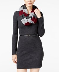 Amy Byer Bcx Juniors' Belted Sweater Dress With Scarf Pat A