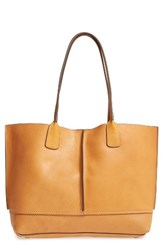 Frye Adeline Leather Tote Brown Tan