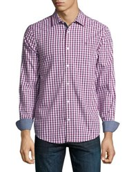 Original Penguin Gingham Short Sleeve Sport Shirt Pink
