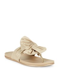 Kenneth Cole Reaction Slim Gal Bow Sandals Gold