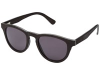 Shwood Francis Wood Sunglasses Dark Walnut Grey Athletic Performance Sport Sunglasses Black