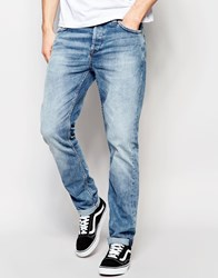 Only And Sons Mid Wash Slim Fit Jeans Mid Blue