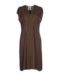Semi Couture Dresses Knee Length Dresses Women Cocoa