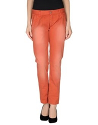 Minimal Casual Pants Brick Red