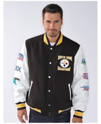 G3 Sports Men's Pittsburgh Steelers Game Ball Commemorative Jacket Black White