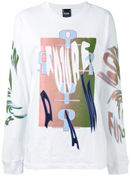 P.A.M. Perks And Mini Pam Tribal Print T Shirt Women Cotton S White