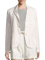 Vince Linen And Silk Blend Three Button Blazer Vanilla