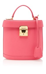 Mark Cross Pebble Grain Benchley Bag Pink