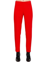 Antonio Berardi Viscose Cady Pants Red