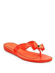 Guess Titaney Jelly Thong Sandals Orange
