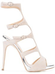 Giuseppe Zanotti Design Buckled Gladiator Pumps Nude Neutrals
