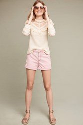 Anthropologie Relaxed Chino Shorts Lavender