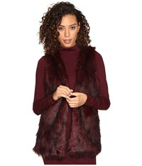 Kensie Tipped Fur Vest Ksnk2111 Wildberry Combo Women's Vest