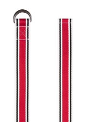 Topman Multi White And Red Webbed Belt