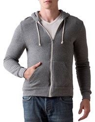 Alternative Apparel Rocky Zip Hoodie Grey